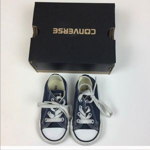 Toddler Blue Converse Low Tops Size 5